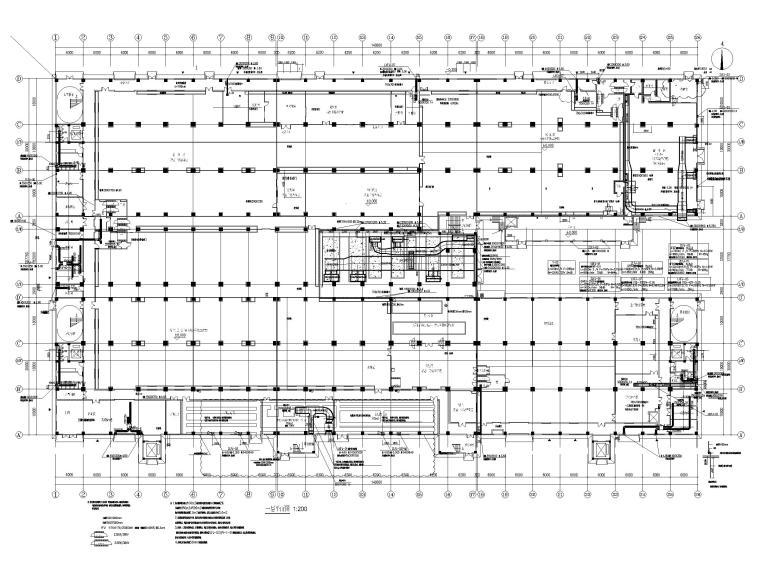 [广州]高端厂房净化通风_暖通施工图2020-一层通风平面图