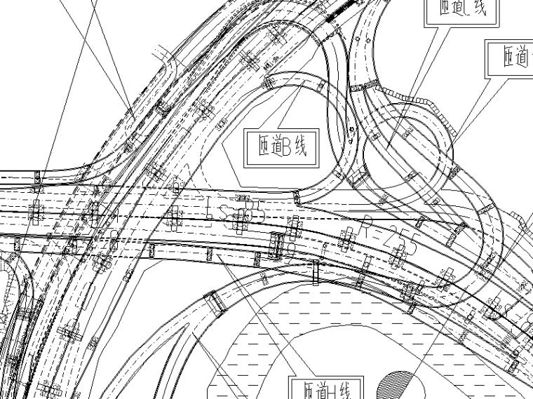 [重庆]高速公路隧道工程施工图设计说明-立交平面图