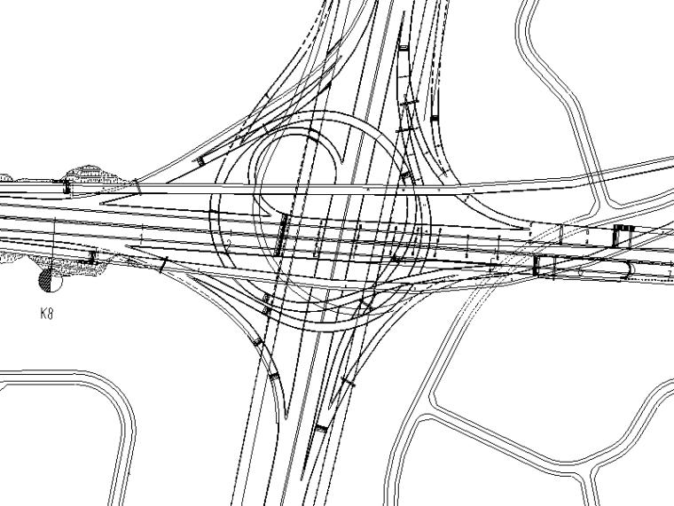 [重庆]高速公路隧道工程施工图设计说明-立交段平面图