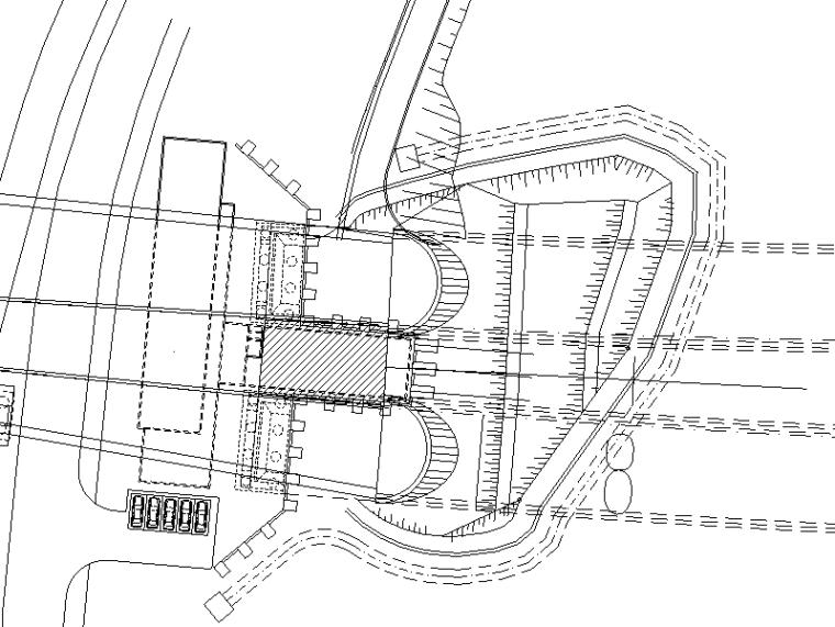 [重庆]高速公路隧道工程施工图设计说明-隧道工程总平面图
