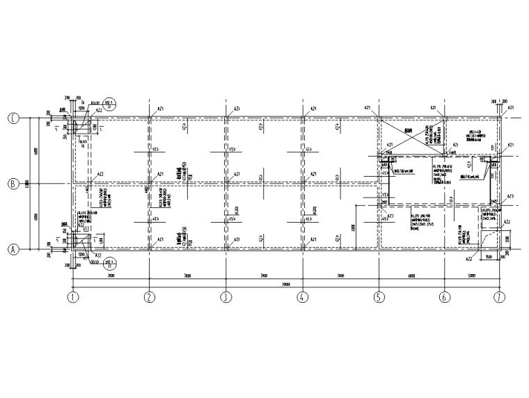 [肇庆]电容基地一期全套结构施工图2020-顶板模板配筋图