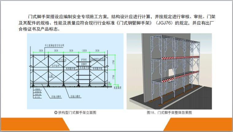 脚手架工程安全标准图册(图文丰富)-门式脚手架搭设