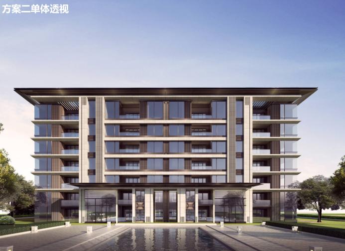 长沙东十路高层公寓_复式商住混合方案文本-方案二单体透视