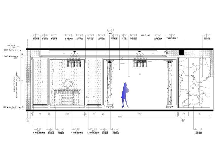 [辽宁]大连三层欧式公馆室内装修设计施工图-一层立面图2