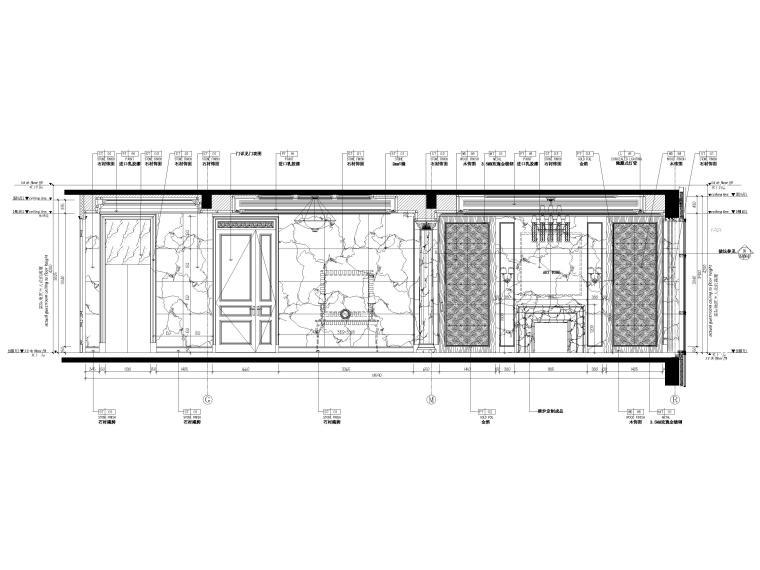 [辽宁]大连三层欧式公馆室内装修设计施工图-一层立面图3