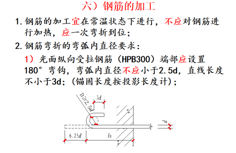 G901图集一般构造要求及框架梁讲义PPT-07 钢筋的加工