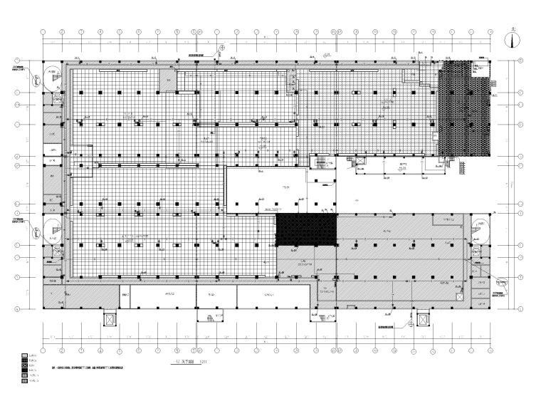 [广州]高端厂房给排水施工图2020_招标文件-一层吊顶给排水平面图