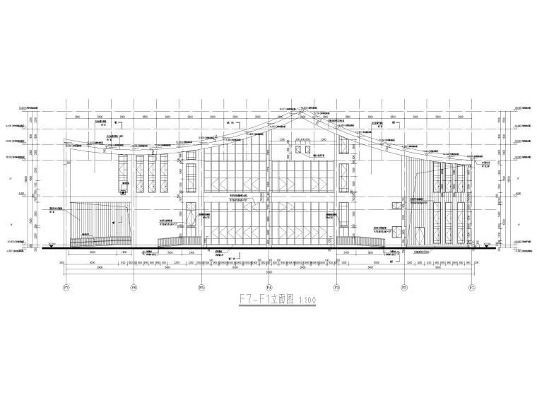 多层防灾减灾大数据中心建筑施工图含标文-防灾减灾大数据中心建施-立面图2