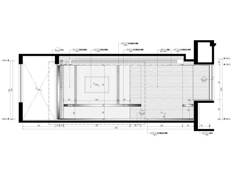 [无锡]金茂府182㎡三居上叠叠墅样板间图纸-三层立面图2