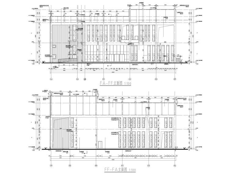 多层防灾减灾大数据中心建筑施工图含标文-防灾减灾大数据中心建施-立面图3