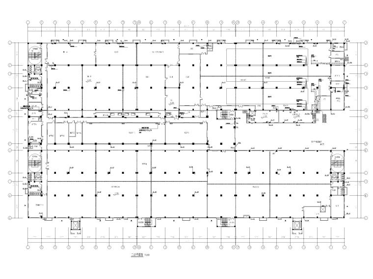 [广州]高端厂房给排水施工图2020_招标文件-二层给排水平面图