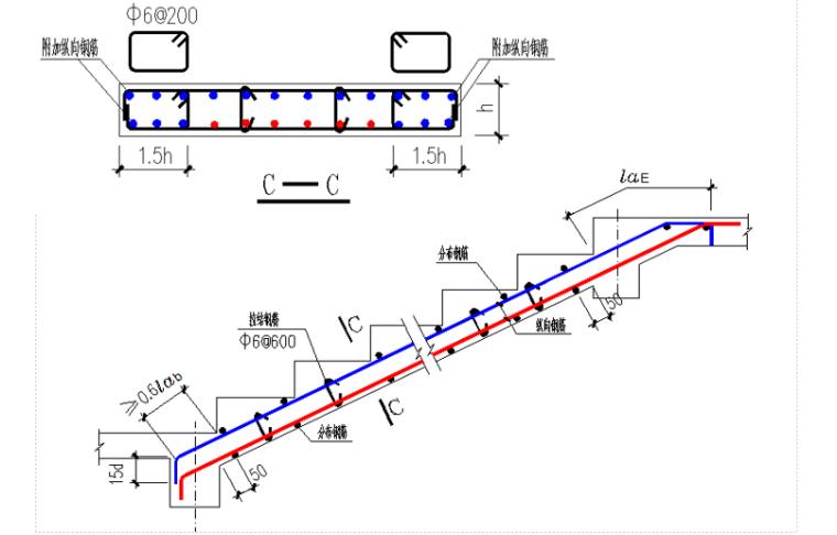 G901图集板式楼梯及基础钢筋排布讲义PPT-06 ATc型楼梯(不设滑动支座)