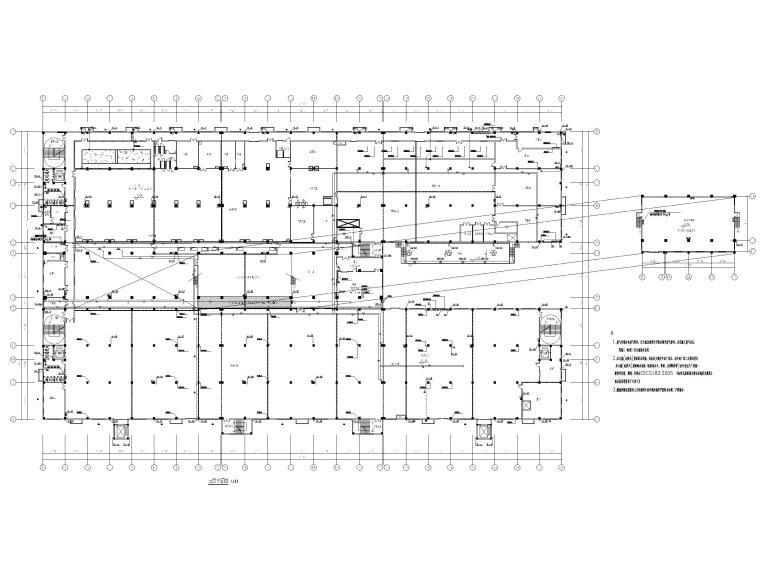 [广州]高端厂房给排水施工图2020_招标文件-三层给排水平面图