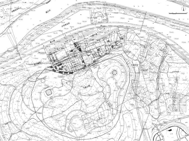 多层防灾减灾大数据中心建筑施工图含标文-总平面图