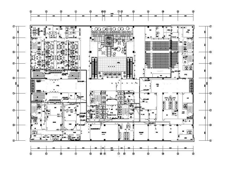 [广东]人民医院门诊楼电气施工图(2020)-3综合布线平面图