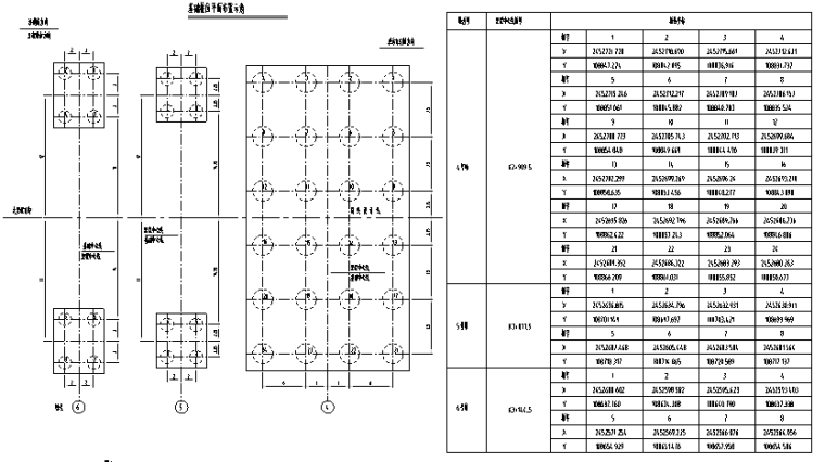 珠海香洲区桥梁勘察设计说明(钻孔嵌岩桩)-基桩位坐落图