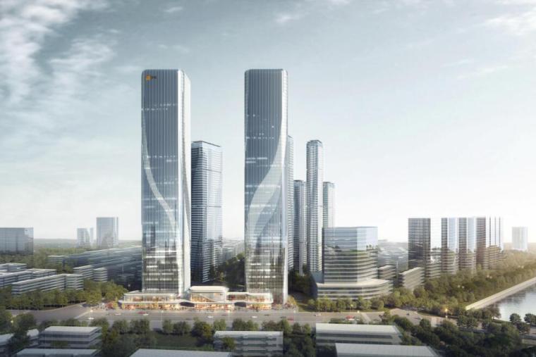 [沈阳]商业+超高层公建化豪宅建筑方案设计-效果图