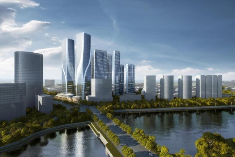 [沈阳]商业+超高层公建化豪宅建筑方案设计-01 鸟瞰图