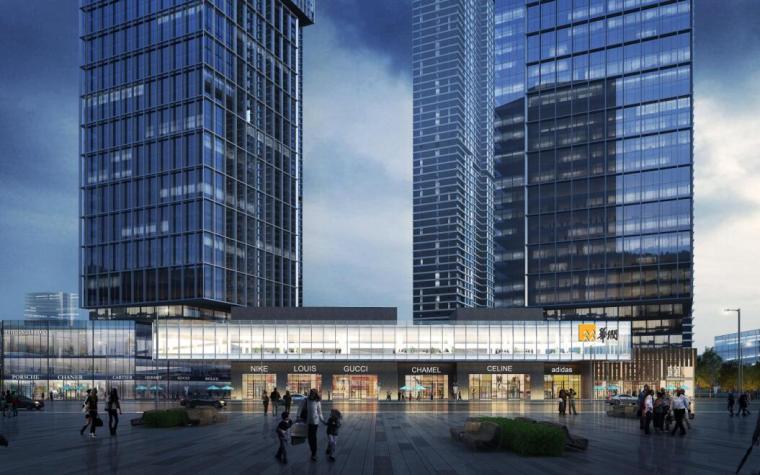 [沈阳]商业+超高层公建化豪宅建筑方案设计-高端配套 效果图