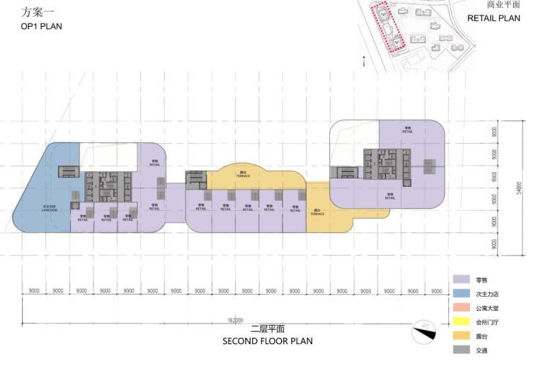 [沈阳]商业+超高层公建化豪宅建筑方案设计-二层平面