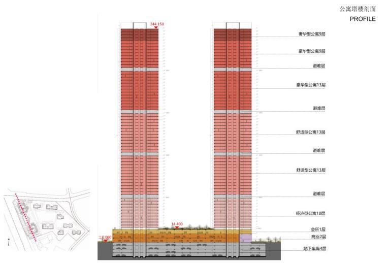 [沈阳]商业+超高层公建化豪宅建筑方案设计-公寓楼塔