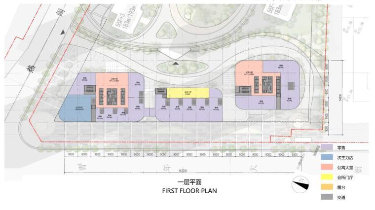 [沈阳]商业+超高层公建化豪宅建筑方案设计-一层平面