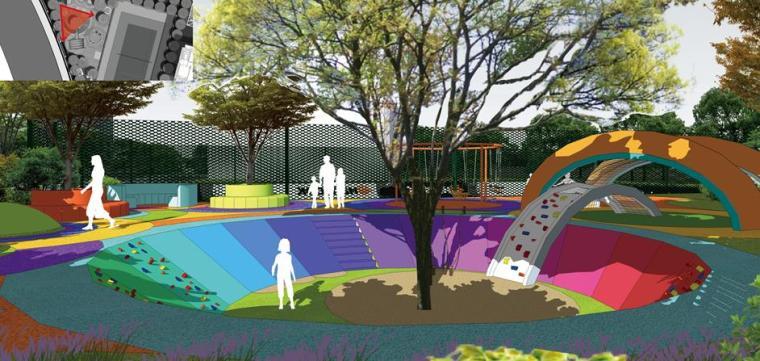 [上海]知名高端居住区景观设计方案-儿童乐园效果图