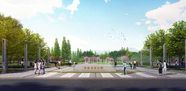 欧式风情街景观资料下载-[安徽]和县综合公园景观设计方案