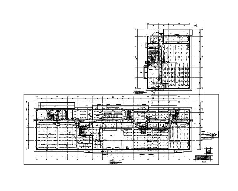陕西省6层公共建筑电气施工图(含计算书)-照明平面图