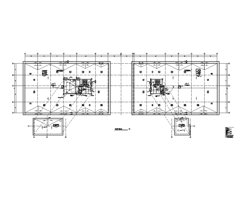 陕西省6层公共建筑电气施工图(含计算书)-屋顶层消防平面图(主楼)