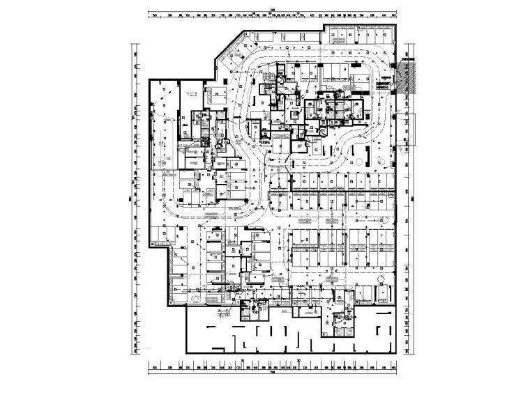 [广东]人民医院回迁住宅楼电气施工图2020-5消防平面图