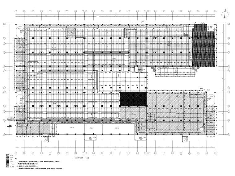 [广州]高端厂房给排水施工图2020_招标文件-一层吊顶喷淋平面图