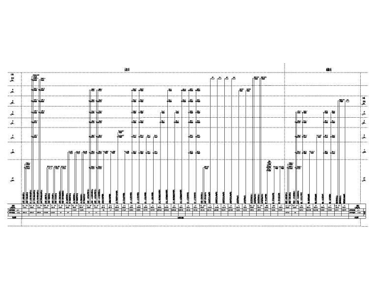 陕西省6层公共建筑电气施工图(含计算书)-垂直供电干线系统图