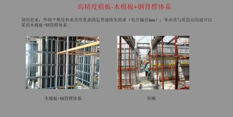 [浙江]装配式建筑评价标准解析PPT-05 高精度模板-木模板+钢背楞体系