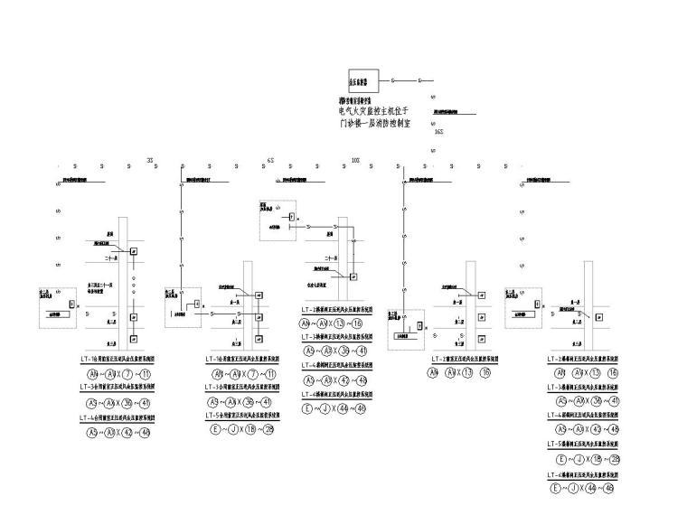 [广东]人民医院回迁住宅楼电气施工图2020-10余压监控系统图