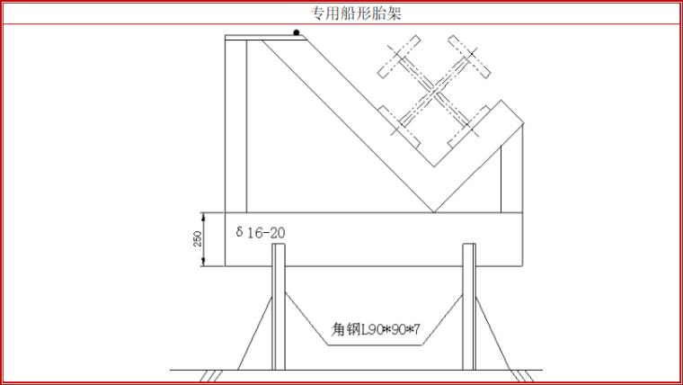 8层框架结构办公楼钢结构工程专项施工方案-06 专用船形胎架
