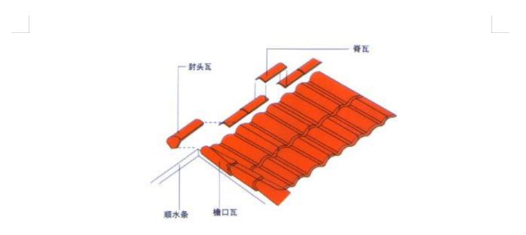 建筑屋面西瓦专项施工方案-02 脊瓦的安装