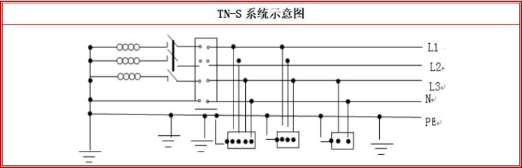 8层框架结构办公楼钢结构工程专项施工方案-10 TN-S系统示意图