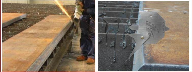 8层框架结构办公楼钢结构工程专项施工方案-09 厚板坡口切割