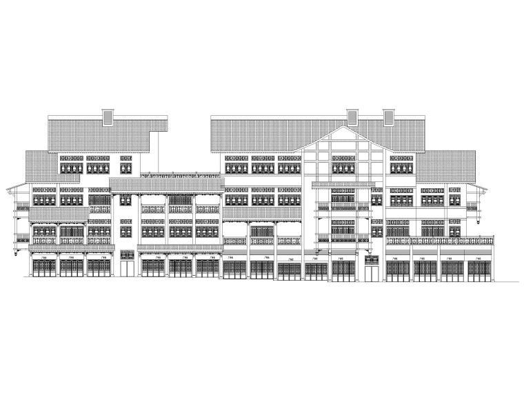 片区棚改单多层商业建筑施工图2019含标文-1#楼立面图1