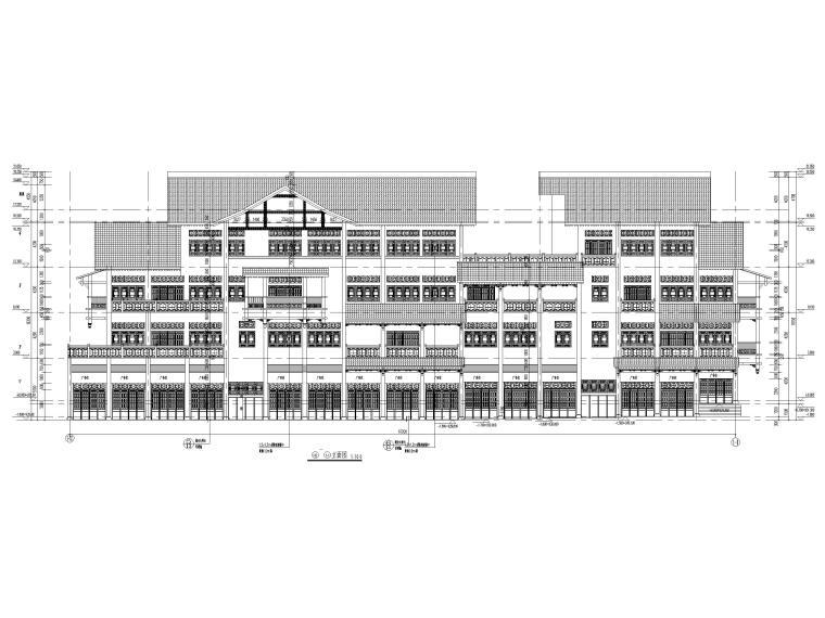 片区棚改单多层商业建筑施工图2019含标文-1#楼立面图2