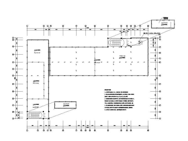 八套2020最新电气图纸_各类建筑-三层幼儿园电气施工图(2020含招标文件)-2防雷平面图
