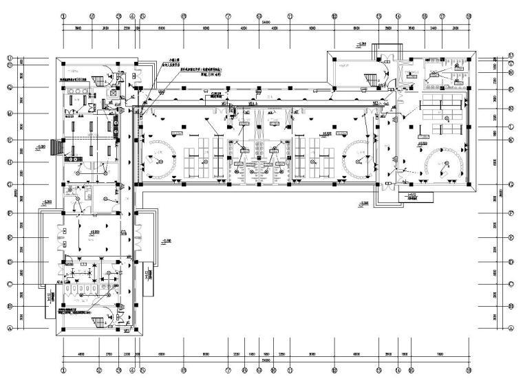 八套2020最新电气图纸_各类建筑-三层幼儿园电气施工图(2020含招标文件)-1电气平面图