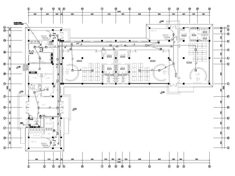 八套2020最新电气图纸_各类建筑-三层幼儿园电气施工图(2020含招标文件)-3消防平面图