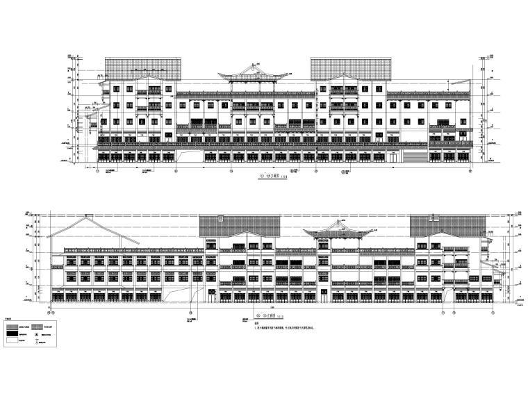 片区棚改单多层商业建筑施工图2019含标文-7#楼立面图