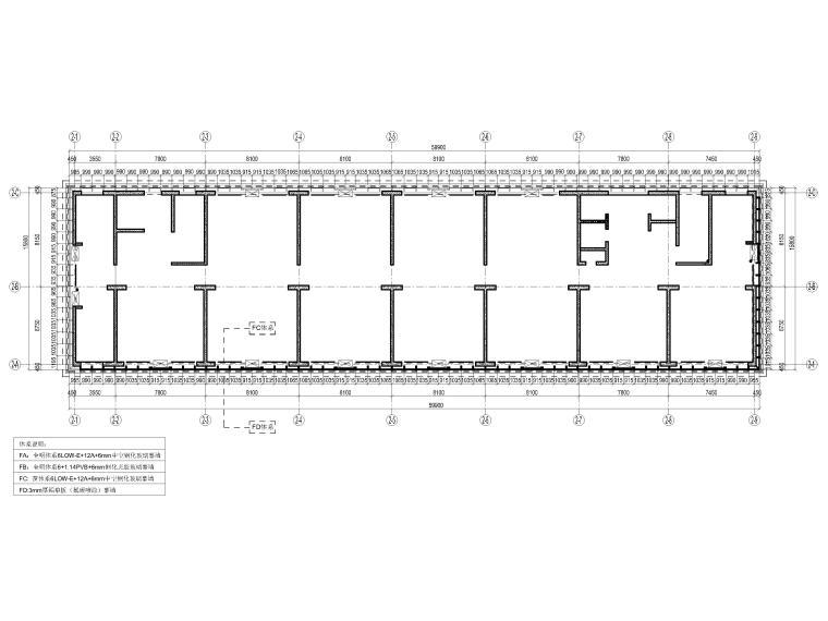 [上海]张江绿地商务办公楼项目幕墙工程图纸-六~九、十四~十七层平面体系图
