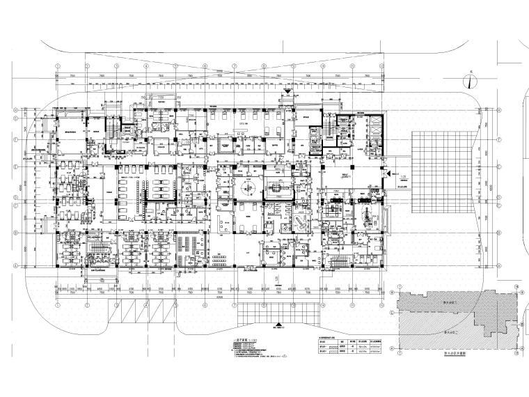 综合性高层医院建筑初设图CAD2018-一层平面图