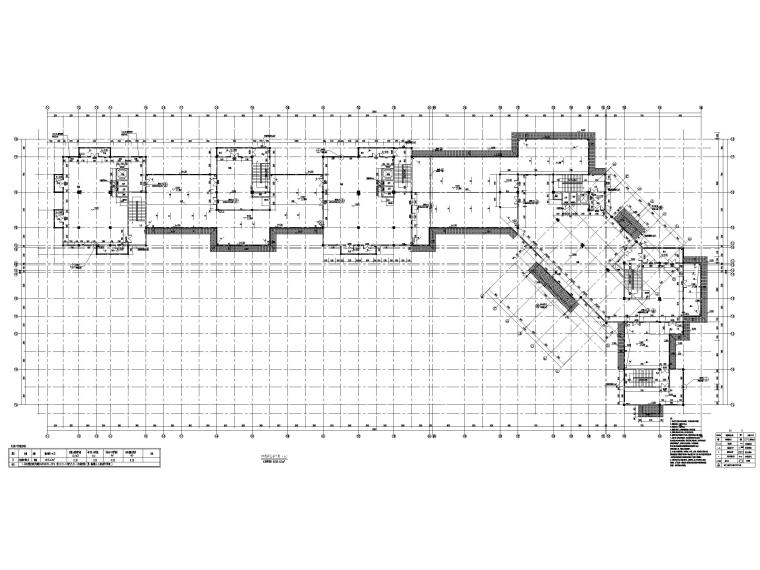 片区棚改单多层商业建筑施工图2019含标文-7#楼四层平面图