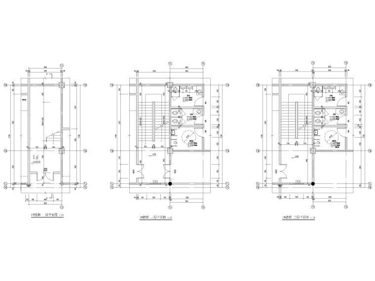 片区棚改单多层商业建筑施工图2019含标文-楼梯大样图