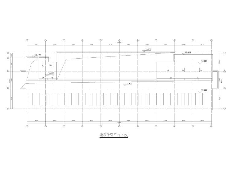 综合性高层医院建筑初设图CAD2018-屋顶平面图